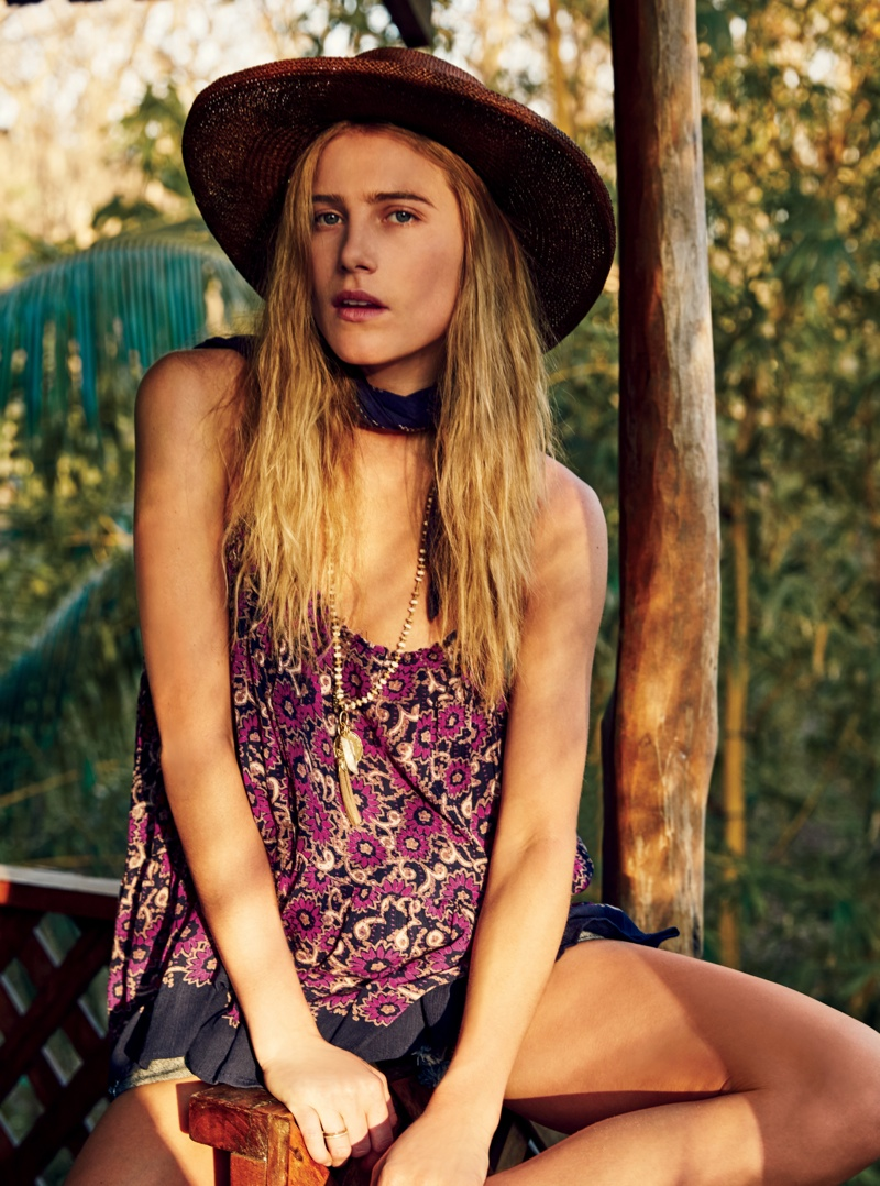 Dree Hemingway has been favored by Free People and has even appeared in a campaign with her sister Langley Fox
