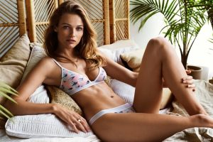 Edita Vilkeviciute Models H&M's New Underwear Line