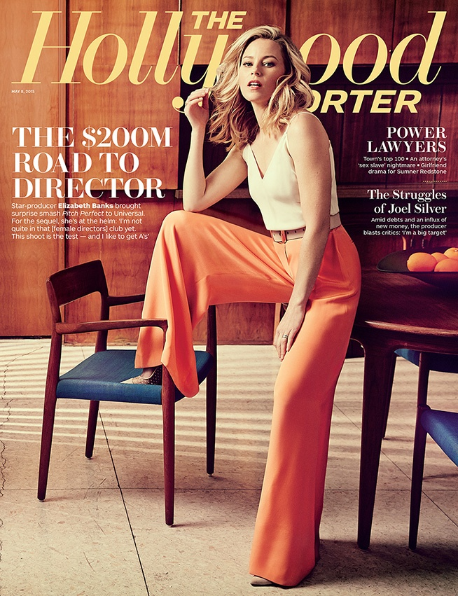 Elizabeth Banks fronts the May 8, 2015, cover of The Hollywood Reporter