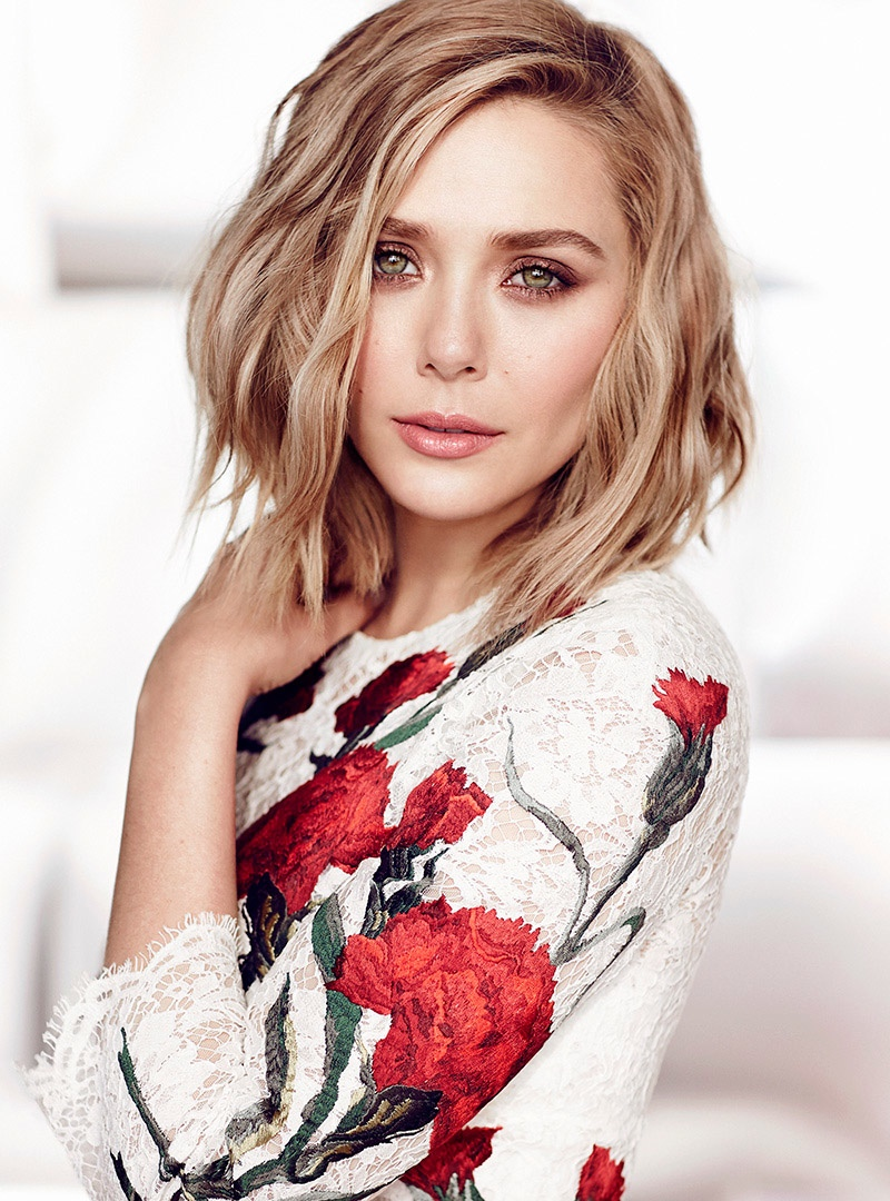 Elizabeth Olsen Shines In Spring Prints For Fashion