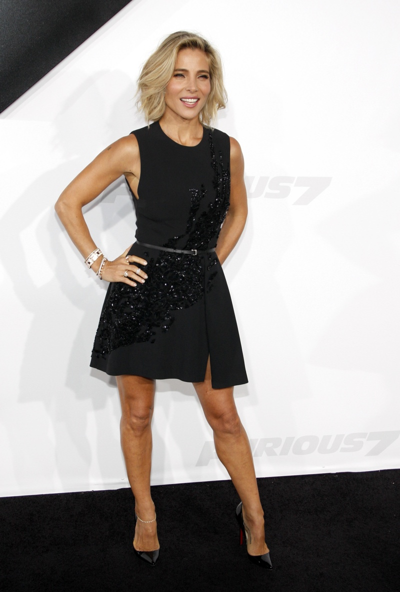 Elsa Pataky wore a black Elie Saab dress with a fit & flare silhouette. Photo: David Grabber / PR Photos
