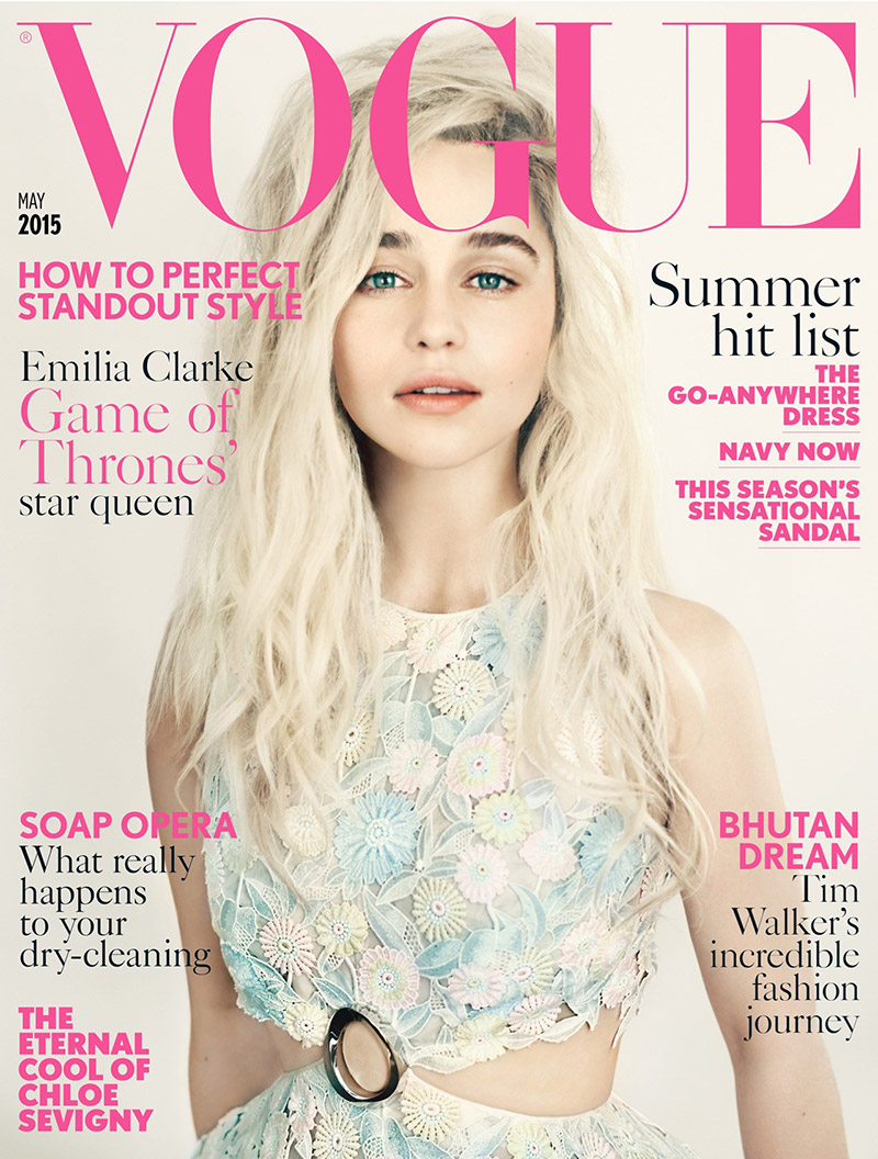 Emilia Clarke lands the May 2015 cover of Vogue UK