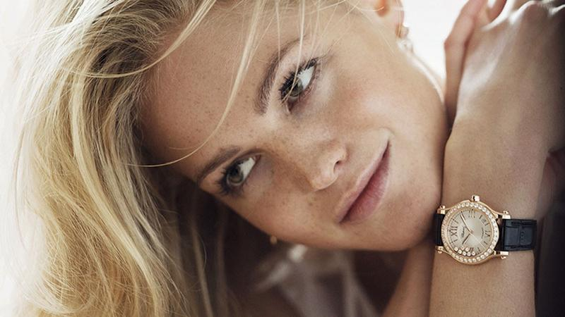 Sports Illustrated Swimsuit model Erin Heatherton is another freckled beauty. Photo: Chopard