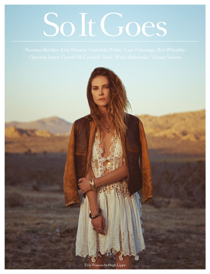 Erin Wasson stars on the 5th cover of So It Goes Magazine