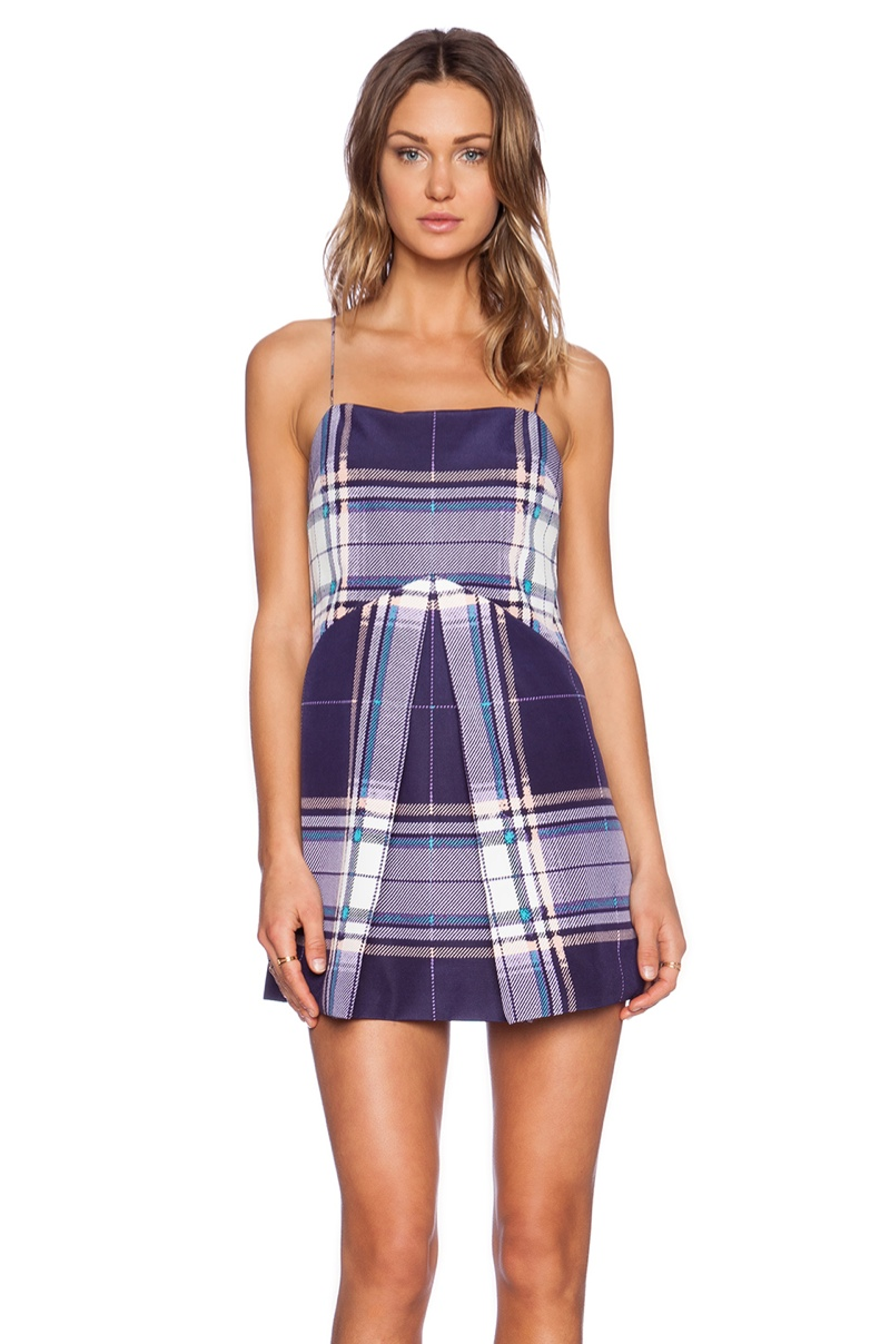 Finders Keepers 'All Time High' Tartan Dress available for $108.00