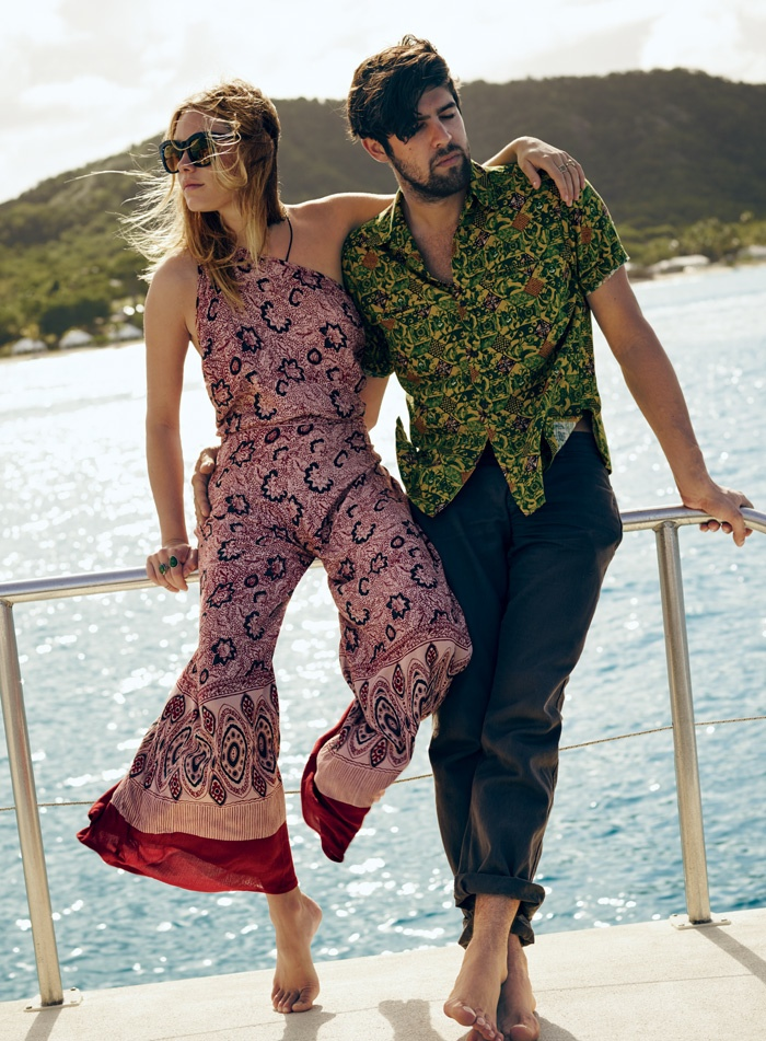 The new style book features jumpsuits in bohemian prints