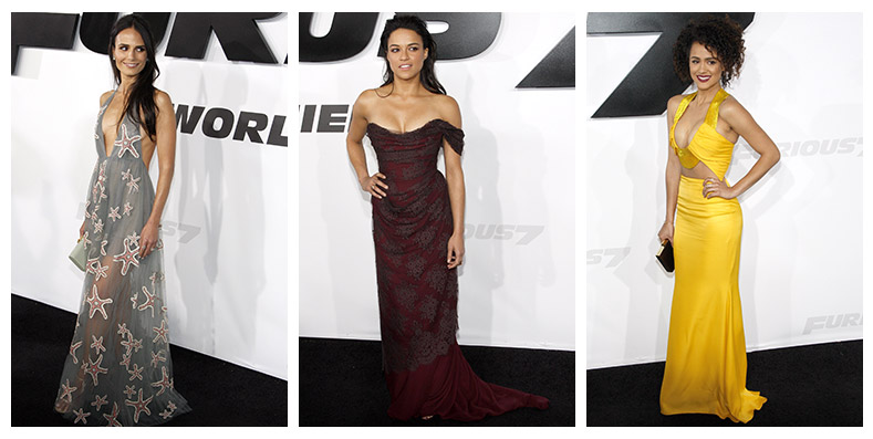 Star style at the 'Furious 7' premiere. Photo: David Grabber / PR Photos