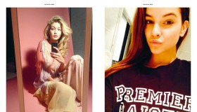 Gigi Hadid and Barbara Palvin take selfies for Antidote Magazine's 'Digital' issue.