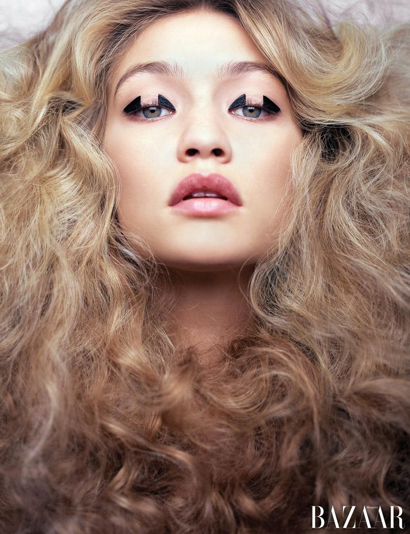 Gigi Hadid Turns Up the Glam for Harper's Bazaar
