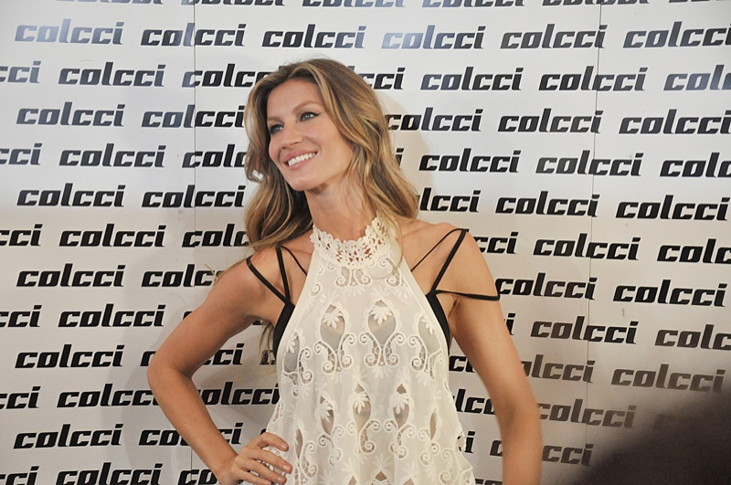 Gisele chose the Colcci runway show as her last to celebrate her her birth place--Brazil. Photo: Hudson  Rennan