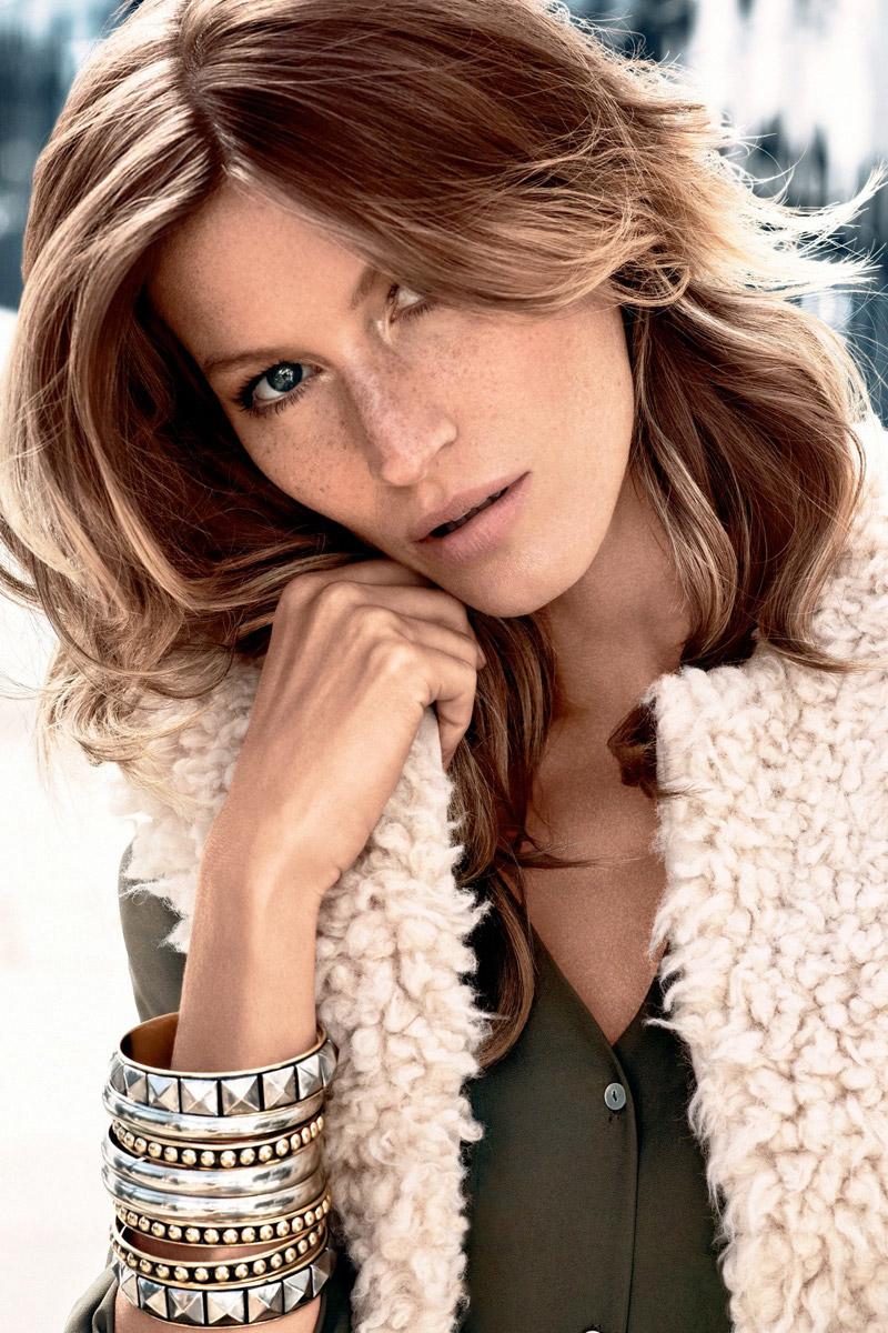 Supermodel Gisele Bundchen has freckles. Photo: H&M