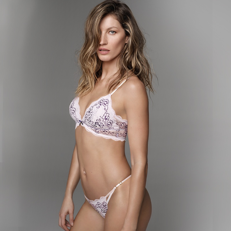 Gisele Bundchen poses in her underwear--literally--for Gisele Bundchen Intimates fall 2015.