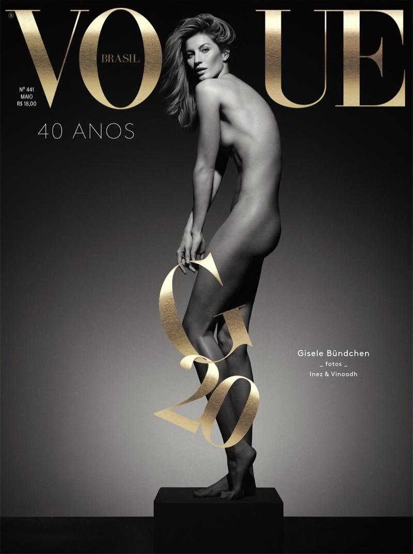 Gisele Bundchen poses naked on Vogue Brazil May 2015 cover. Photo: Inez & Vinoodh