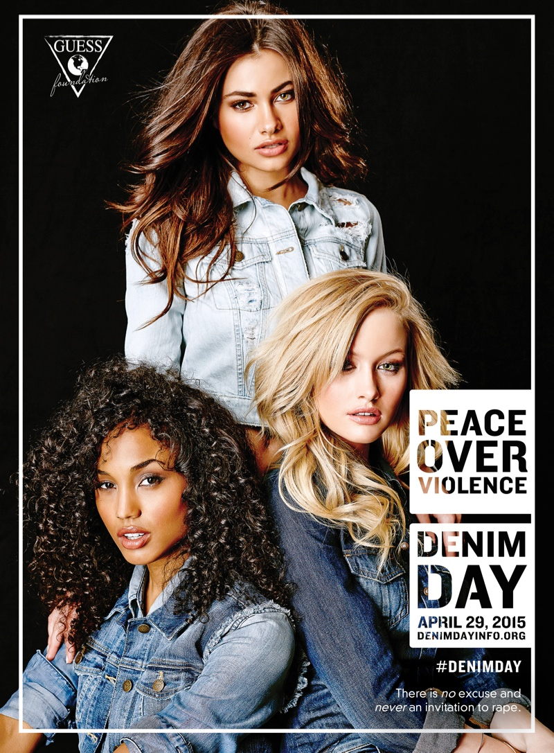 For every pair of jeans and select accessories sold, GUESS will donate $2 to the nonprofit--Peace Over Violence.