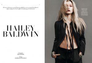 Hailey Baldwin Works It in L'Officiel Netherlands Shoot