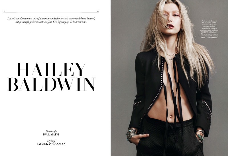 Hailey Baldwin Works It in L'Officiel Netherlands Shoot