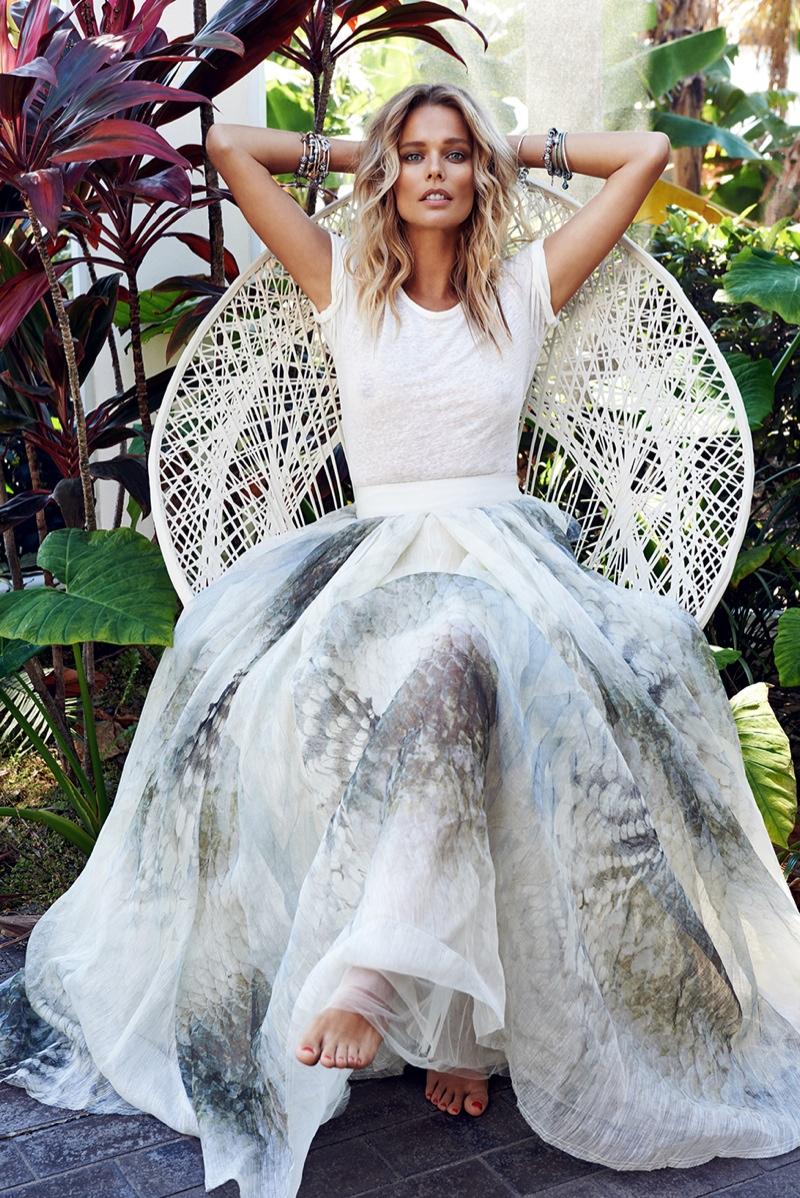 Helena Houdova Wears Spring Fashion for ELLE Czech
