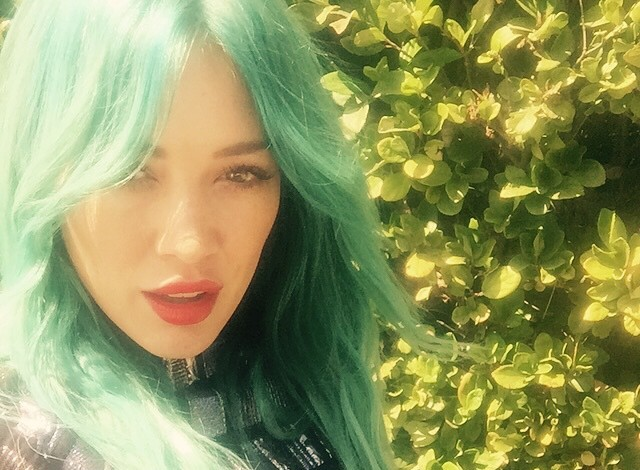 hilary-duff-blue-hair-instagram