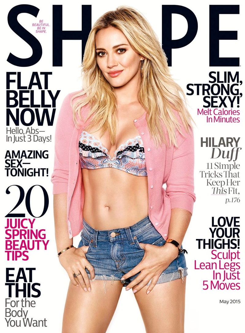 Hilary Duff graces the May 2015 cover of Shape Magazine