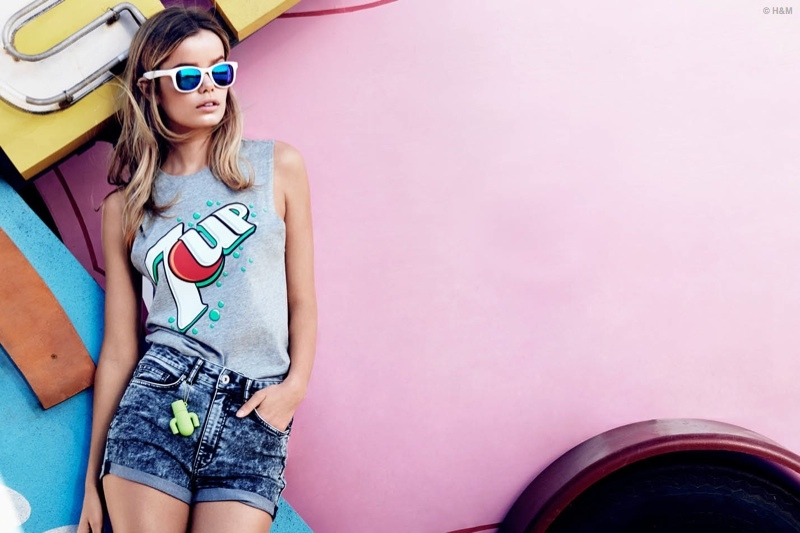 Frida Aasen rocks a graphic tee for new H&M lookbook