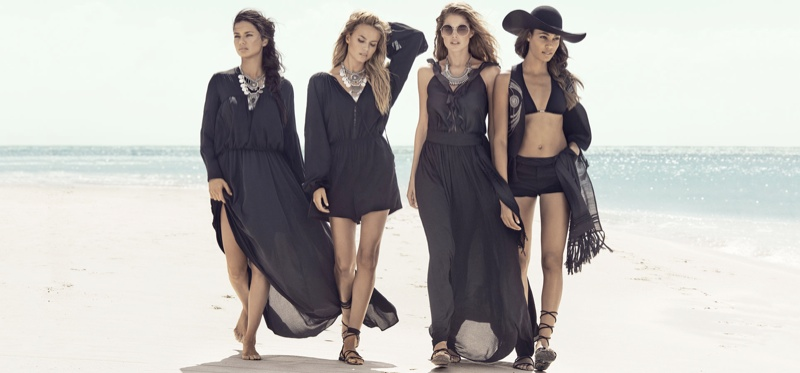H&M taps models Adriana Lima, Natasha Poly, Doutzen Kroes and Joan Smalls for its summer 2015 campaign
