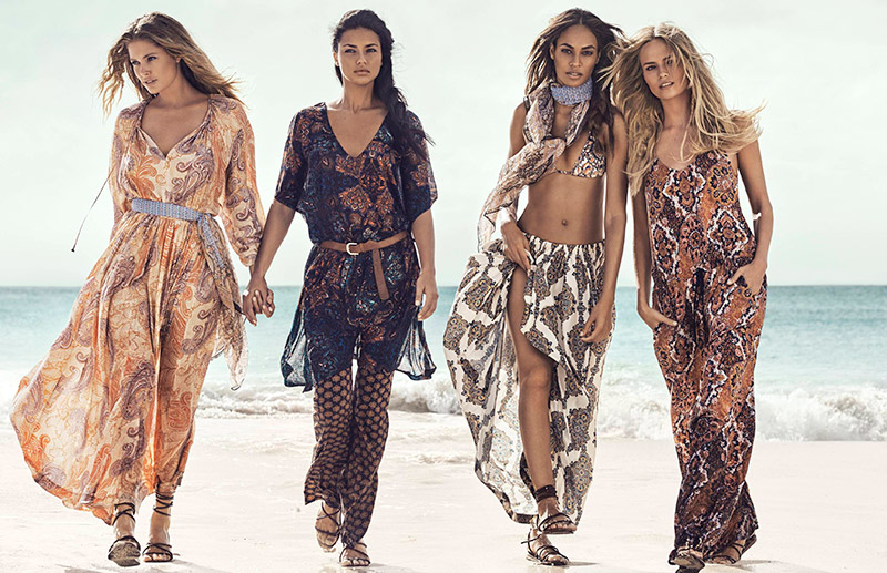 The girls look bohemian chic in this image for H&M's summer campaign