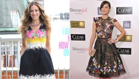 Sarah Jessica Parker and Marion Cotillard give a different take on florals. Photo: Shutterstock.com