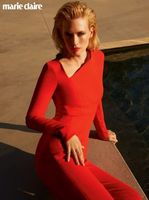 January Jones Talks Placenta Vitamins with Marie Claire UK