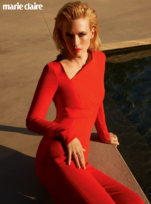 January Jones looks red-hot in her photo shoot