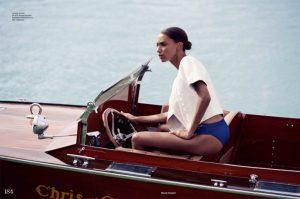 High Seas Style: Jasmine Tookes Gets Nautical for ELLE UK