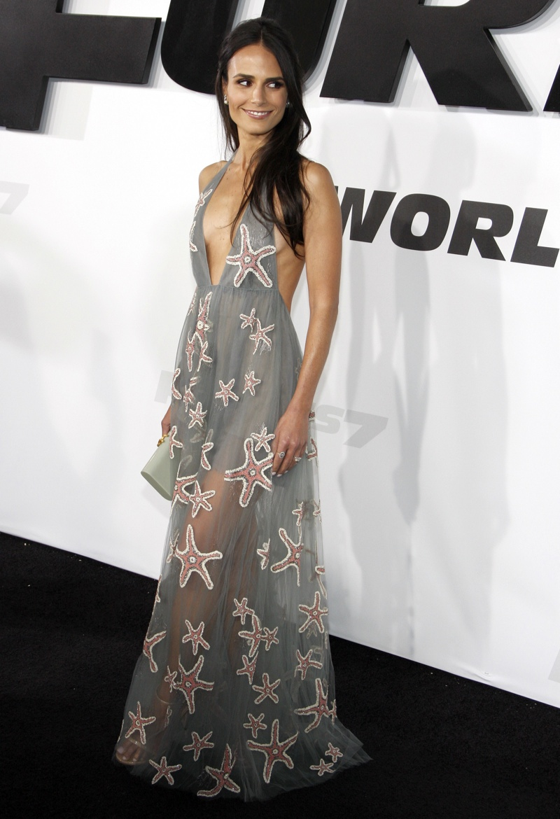 Jordana Brewster looked ethereal in a Valentino dress with star motifs. Photo: David Grabber / PR Photos