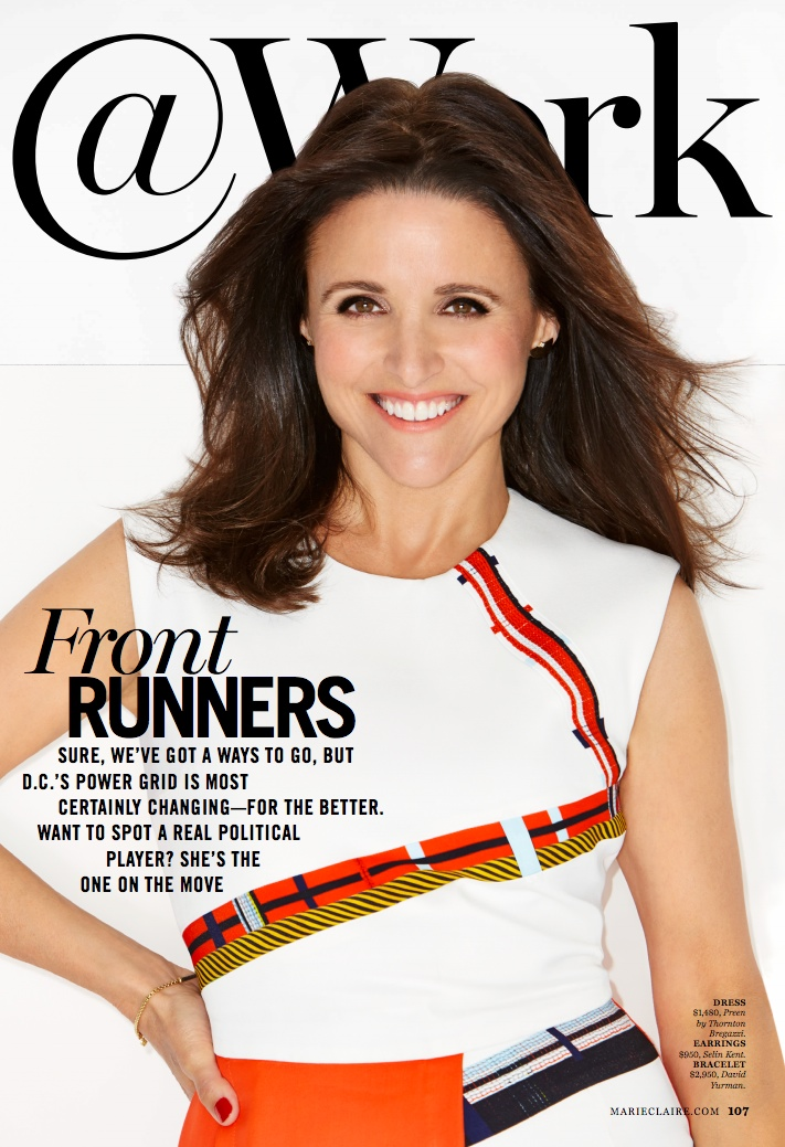 Julia Louis-Dreyfus stars in Marie Claire @Work May 2015