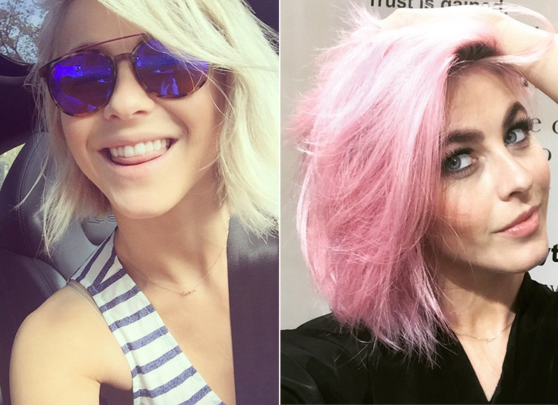 'Dancing with the Stars' judge Julianne Hough dyed her blonde bob pink in 2015. Photo: Instagram