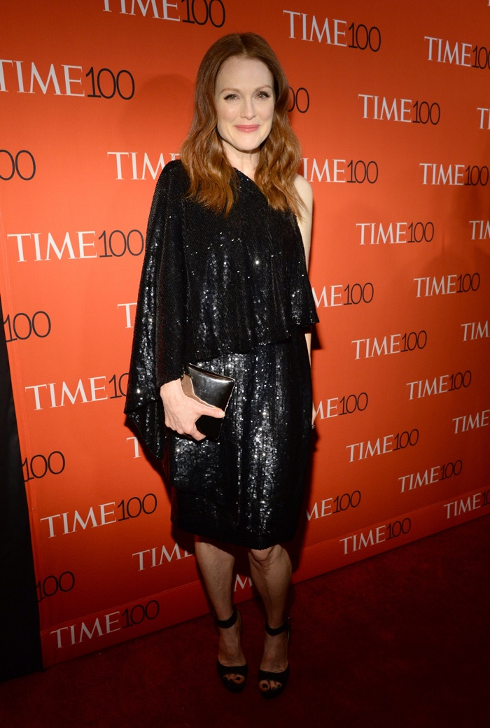 Julianne Moore Sparkles In Givenchy At The Time 100 Gala
