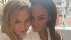 Karlie Kloss and Joan Smalls #squadgoals. Photo via Instagram