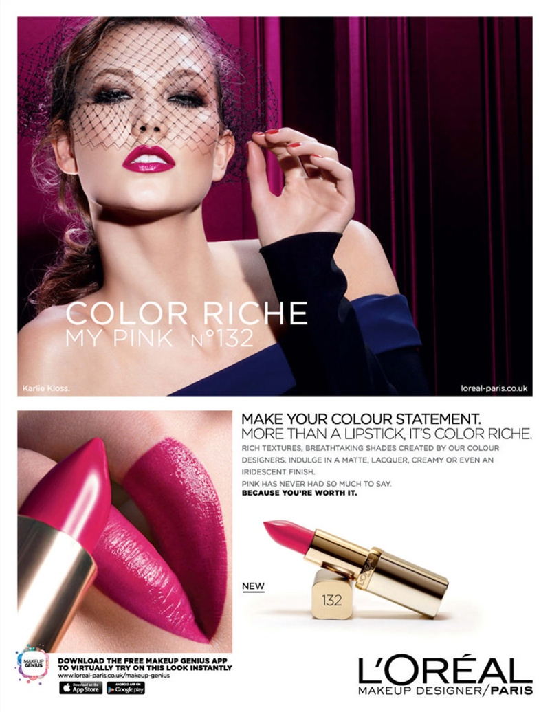 Karlie Kloss turns up the glam in L'Oreal Paris 'Color Riche' ad