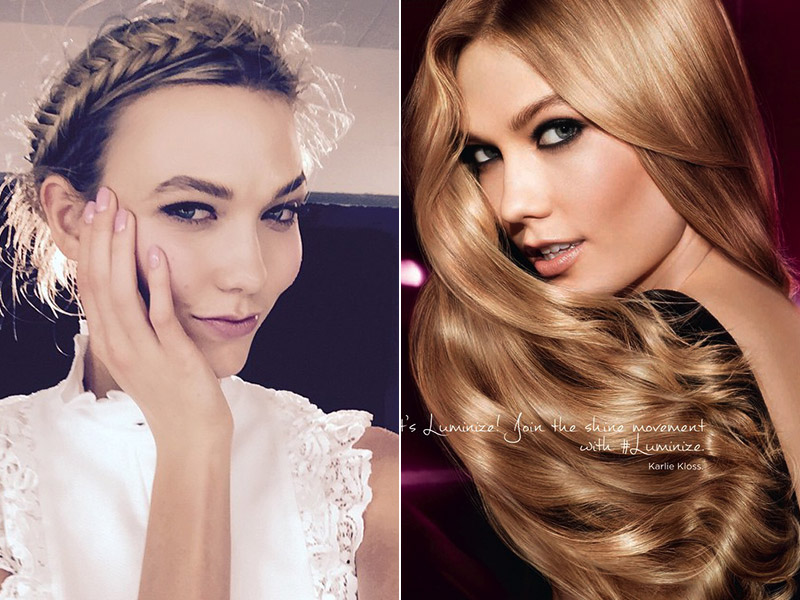 Karlie Kloss has been hard at work as the face of L'Oreal Paris.