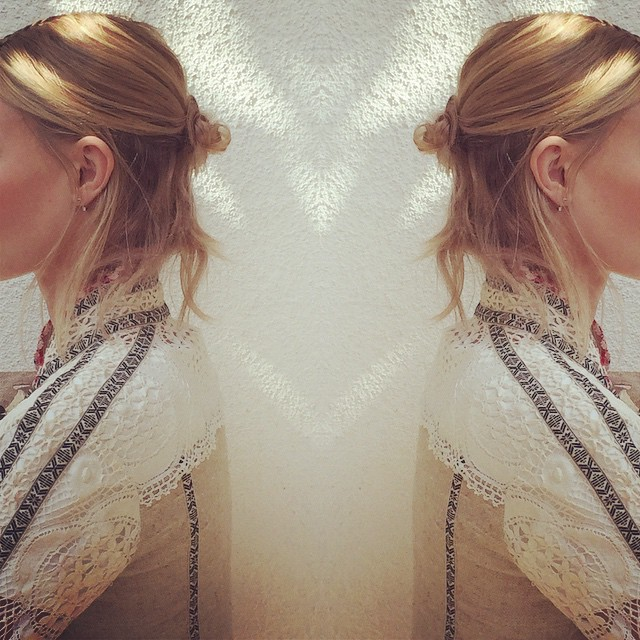 A look from the back at Kate's festival hairstyle. Photo via Instagram.