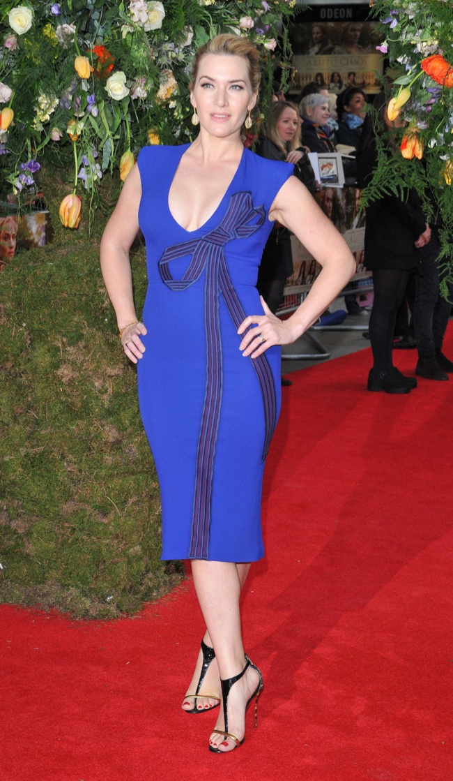 Kate Winslet wowed in a blue Stella McCartney dress at the London premiere of 'A Little Chaos'. Photo: Landmark / PRPhotos.com