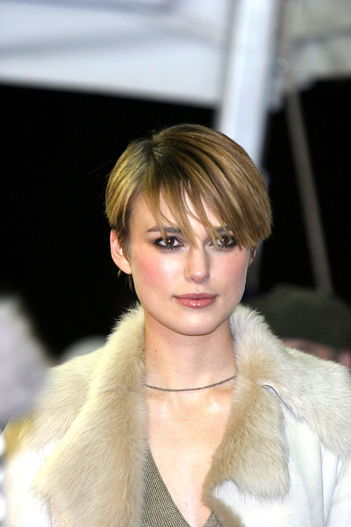 Keira Knightley sported a highlighted pixie haircut. Photo: Everett Collection / Shutterstock.com