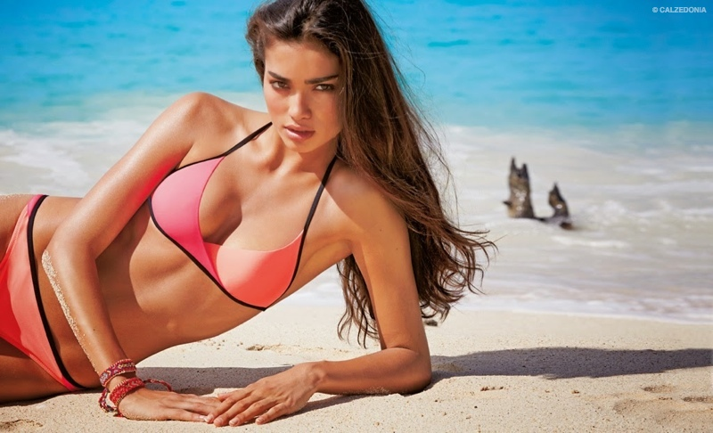 Calzedonia taps Kelly Gale for its 2015 swimwear catalogue.