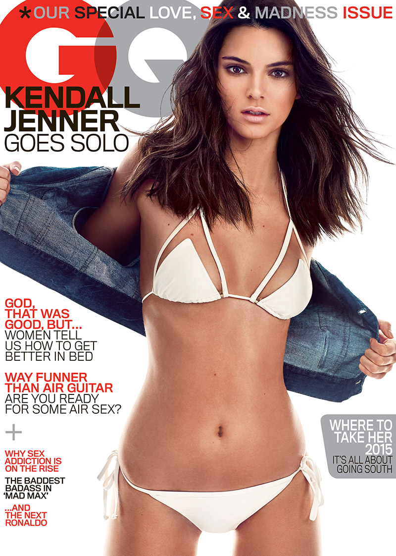 Kendall Jenner poses on GQ May 2015 cover. Photo: Steven Klein