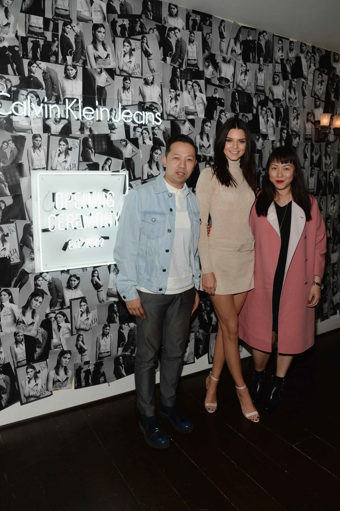 Kendall Jenner, Humberto Leon and Carol Lim. Photo: Getty Images Entertainment