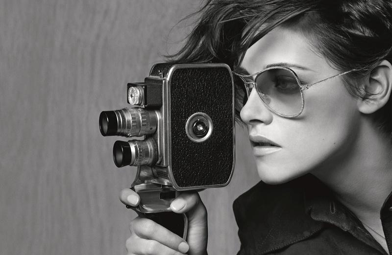 Kristen Stewart plays a photojournalist for Chanel's spring 2015 eyewear campaign.