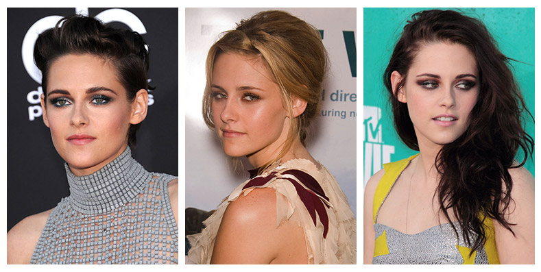 Actress Kristen Stewart has had many different hair colors and styles through the years. Photo: Shutterstock.com / PR Photos