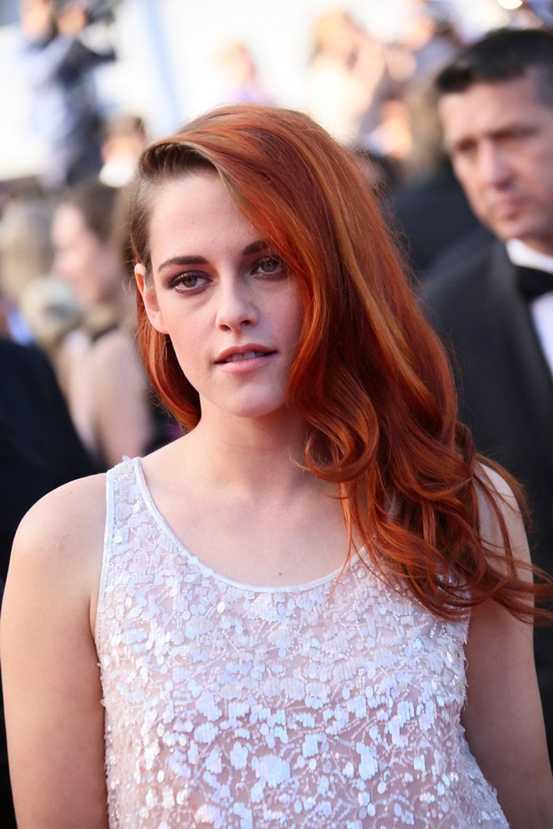 kristenstewartlongredhair
