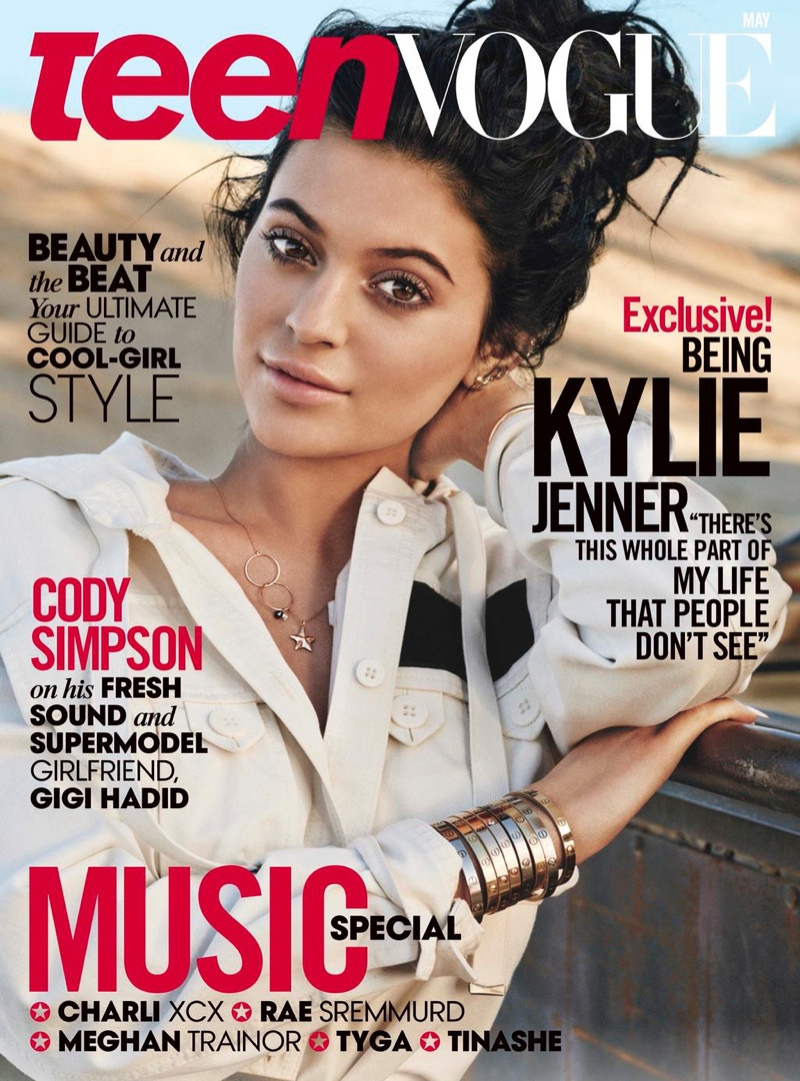 Kylie Jenner graces the May 2015 cover of Teen Vogue