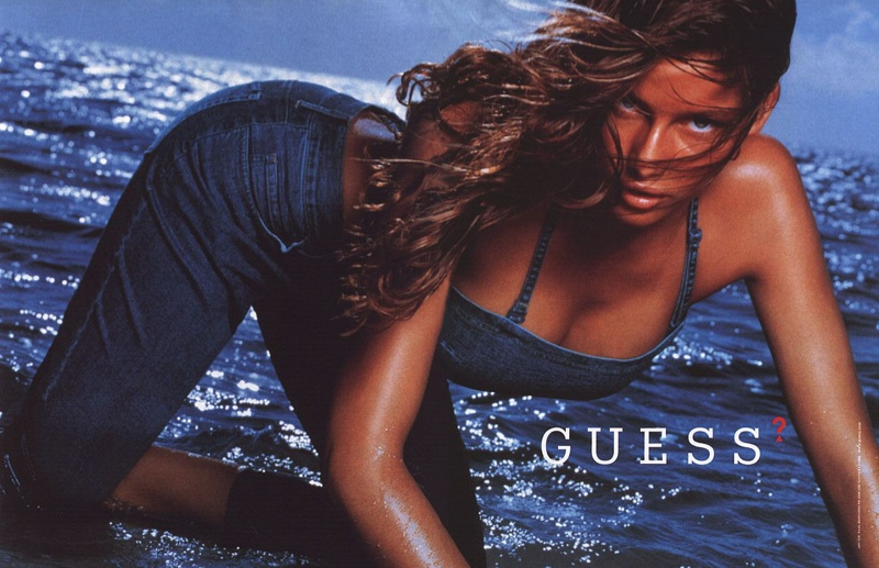 French model-actress Laetitia Casta flaunted her curves as the face of Guess Jeans in 2003. The brunette would also model for brands like Dior, Nina Ricci and Victoria's Secret.