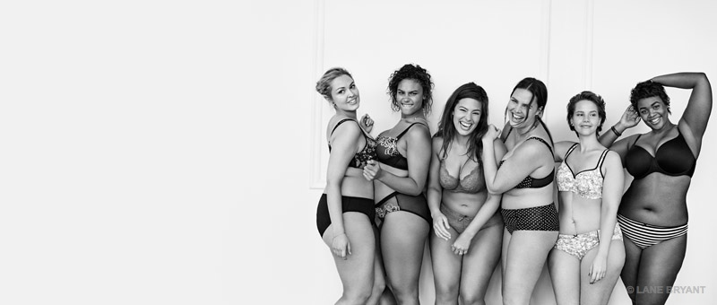 The images are meant to convey the message that all women are sexy no matter their size.