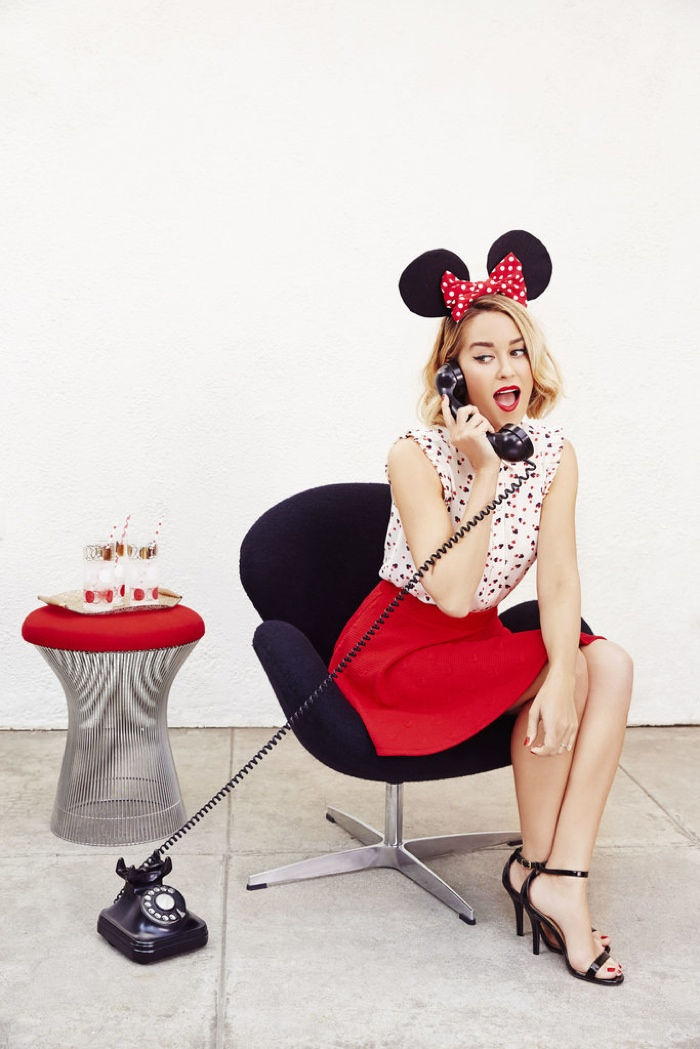 Lauren shows off her playful side in the new Minnie Mouse collection